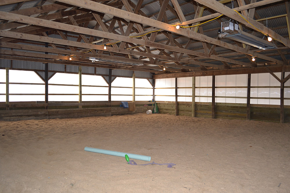 Heated indoor arena